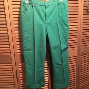 Tommy Hilfiger Green Cropped Pants
